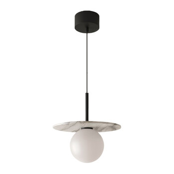 Miro Ceiling Light With Alabaster Disc - Black