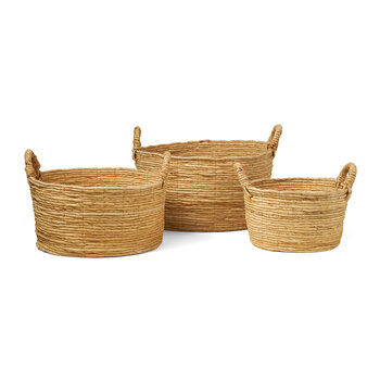 Clio Abaca Baskets - Natural - Set of 3