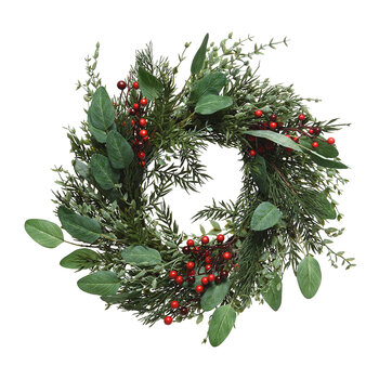 Willow Berry Wreath - Red/Green