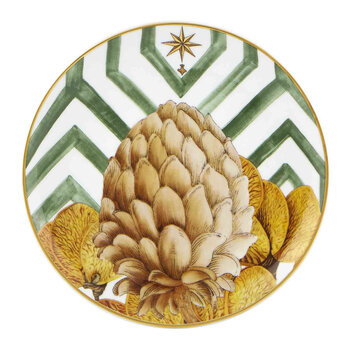 Amazónia Bread and Butter Plate - Green/Gold