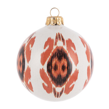 Hand Painted Tree Decoration - Red/Black