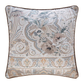 Halifax Corded Pillow - Silver - 45x45cm