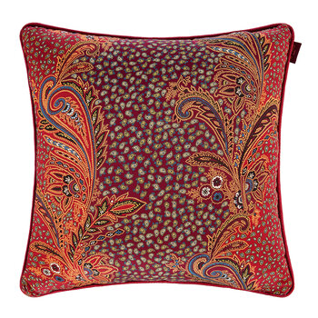 Dawlish Piped Pillow - Red - 45x45cm
