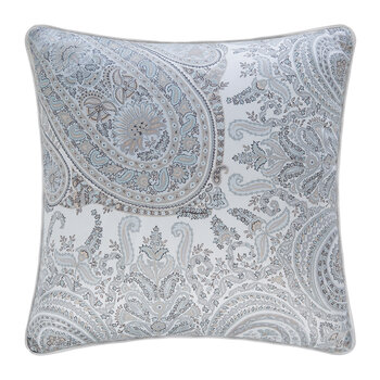 Montclair Piped Pillow - Silver - 45x45cm