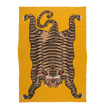 Tiger Cashmere Throw - Yellow