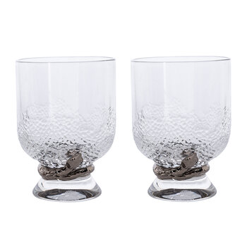 Python Water Glasses - Set of 2 - Silver