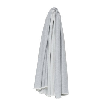 Vale Reversible Throw - Lambswool/Cashmere - White Silver