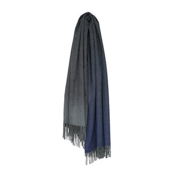 Nuance Omber 100% Cashmere Throw - Blue