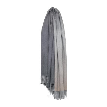 Nuance Omber 100% Cashmere Throw - Gray