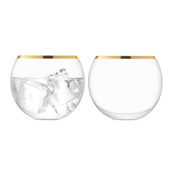 Luca Tumbler - Set of 2 - Clear/Gold