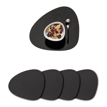 Core Curve Placemat -  Set of 4 - Flecked Anthracite