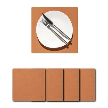 Core Square Placemat - Set of 4 - Flecked Natural - Small