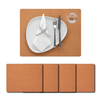 Core Square Placemat - Set of 4 - Flecked Natural - Large