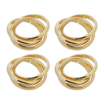 3 Ring Napkin Rings - Set of 4