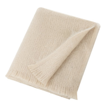 Mohair Throw - Vanilla