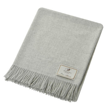 Natural Alpaca Throw - Grey
