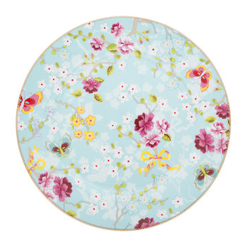 Chinese Rose Plate - Blue