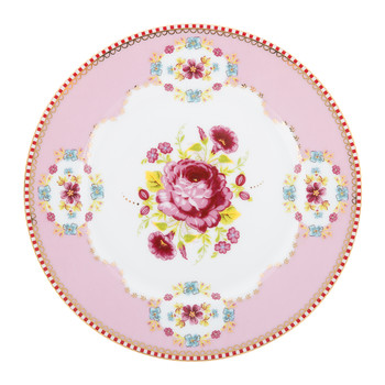 Floral Side Plate - Pink