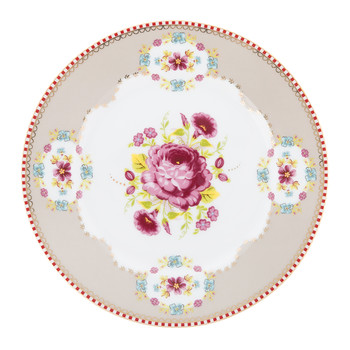 Floral Side Plate - Khaki