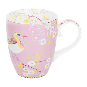 Große Early Bird Tasse - Pink