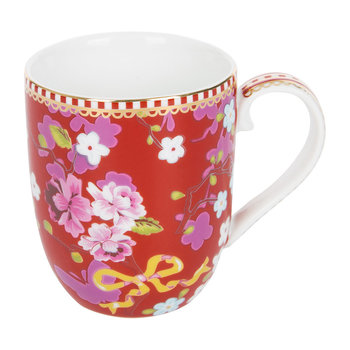 Small Chinese Rose Mug - Red