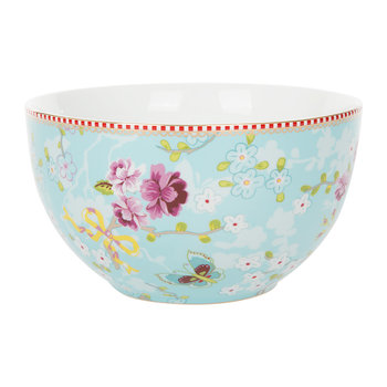 Chinese Rose Bowl - Blue - 18cm