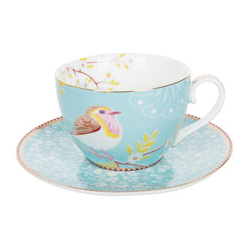 Early Bird Cappuccino Cup & Saucer - Blue