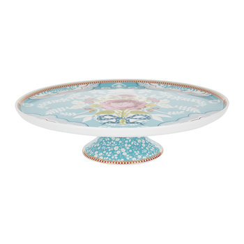 Floral Cake Stand - Blue