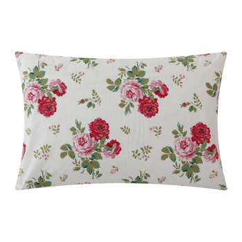 Antique Rose Bouquet Pillowcase - White