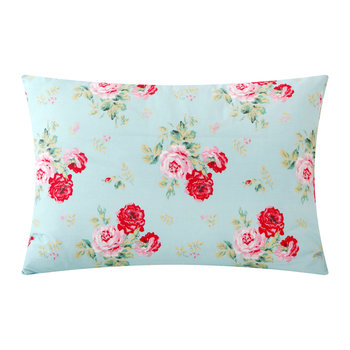 Antique Rose Bouquet Pillowcase - Duck Egg