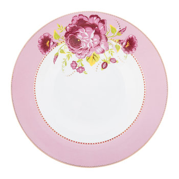Floral Pasta Plate - Pink