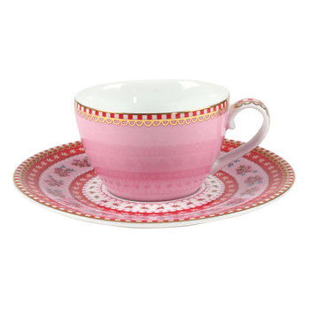 Ribbon Rose Espresso Cup & Saucer - Pink