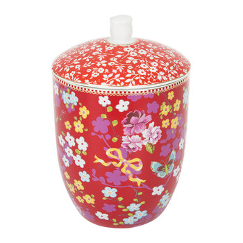 Chinese Rose Storage Jar - Red