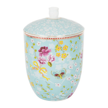 Chinese Rose Storage Jar - Blue