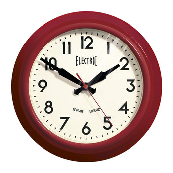 Small Electric Clock - Red