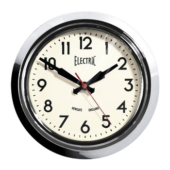 Small Electric Clock - Chrome