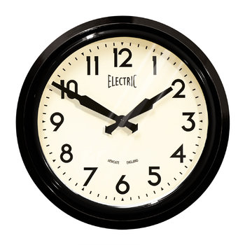 '50s Electric Clock - Black