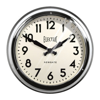 Large Electric Clock - Chrome