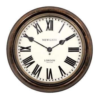 King's Cross Station Clock - Dark Wood - Large