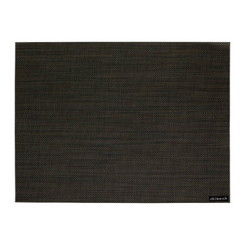 Mini Basketweave Rectangle Placemat - Black