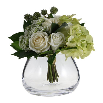 Flower Clear Table Arrangement Vase - 11.5cm