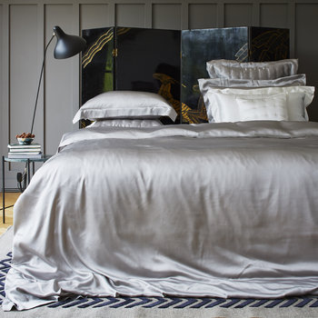 Silk Duvet Cover - Silver Grey