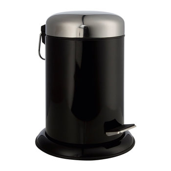 Metal Pedal Waste Bin - Black