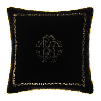 Venezia Reversible Cushion - 40x40cm - Black