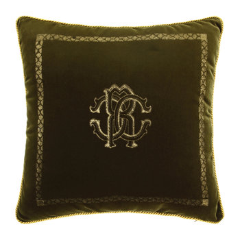 Venezia Reversible Pillow - 40x40cm - Olive Green