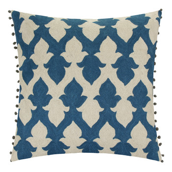 Lattice Teal Cushion