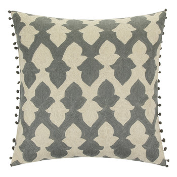 Lattice Pewter Cushion