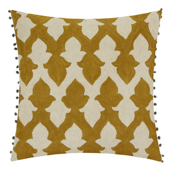 Lattice Chartreuse Cushion - 50x50cm