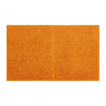 Stem Jacquard Bath Mat - Orange