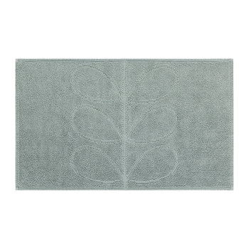 Stem Jacquard Bath Mat - Duck Egg